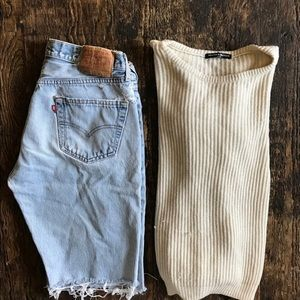 Vintage Levi 501 knee length shorts